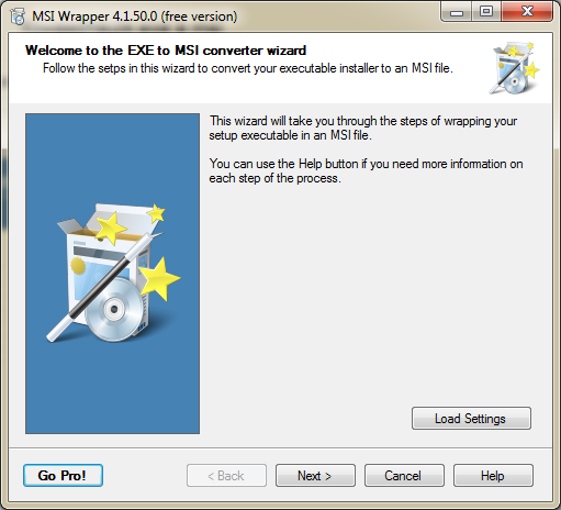 Runing the file MSI Wrapper