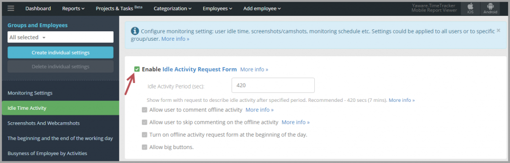 6._Enable_Idle_Activity_Request_Form