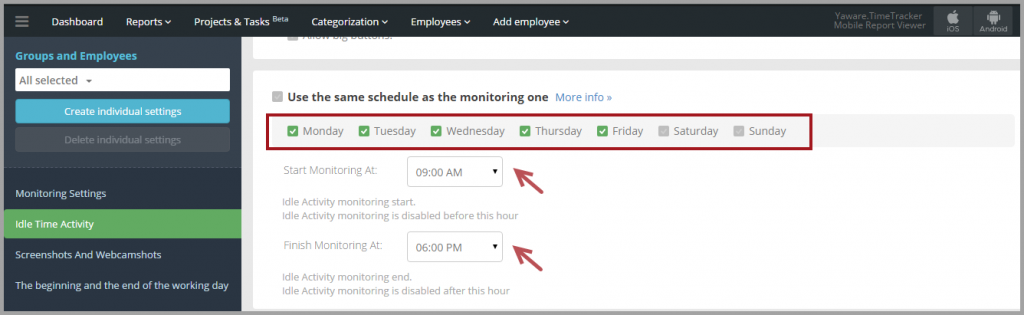 Different_monitoring_schedule