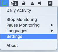 Yaware.TimeTracker MacOS клиент меню настройки