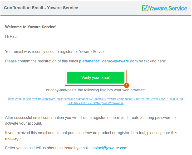 verification mail